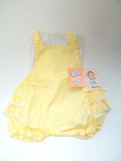 Vintage 1950s Baby Sunsuit and Bonnet, image 1
