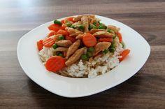 Oh wie lecker, Natjas Mittagessen: Sojafrikassee auf Reis
