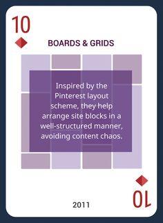 Win This Custom Card Deck & Discover Web Design Trends 2004-2014 https://www.pinterest.com/templatemonster/win-the-web-design-trends-cards/   #webdesigntrends #boards #grids