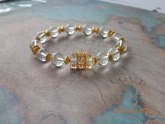 Buy Beautiful Quartz Om Mani Padme Hum Bracelet by shynnasplace. Explore more products on http://shynnasplace.etsy.com