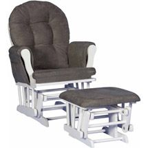 Walmart: Storkcraft Hoop Glider, Gray (Choose Your Finish)>>Black with gray cushions