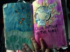 Tangled themed Wreck This Journal page. :{D