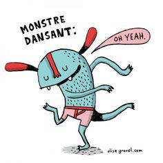 Dancing Monster • Elise Gravel illustration
