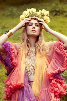 ''Spring Wedding'', just add more jewelry and sass and it will become bohemian style