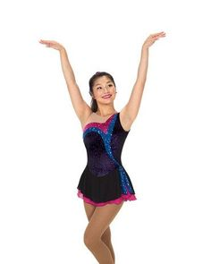 Jerry's Figure Skating Dress 246 - Stream of Sequins