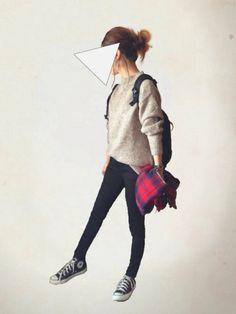UNIQLOのニット・セーター「オーバーサイズチュニック(Sサイズ)」を使ったレキミのコーディネートです。WEARはモデル・俳優・ショップスタッフなどの着こなしをチェックできるファッションコーディネートサイトです。
