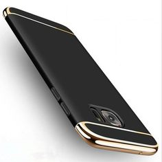 S7 S7edge Case for Galaxy S7 Edge Armor Slim Thin Gold Black Cases for Samsung Galaxy S7 Edge Cover Shockproof Black Accessories