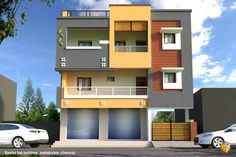 Ramandeep House Front Wall Design, Single Floor House Design, Small House Design, Modern House Design, Door Design, Modern Shop, 2 Storey House Design, Duplex House Design, 20x40 House Plans