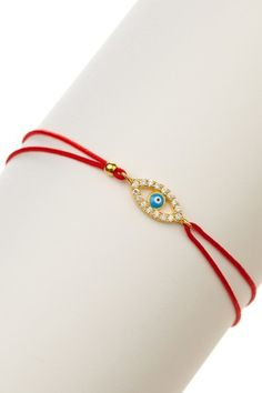$42 14k Cutout Evil eye charm bracelet - Want