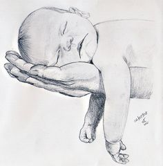 43 New Ideas For Baby Drawing Sketches Mothers Baby Drawing, Drawing For Kids, Painting & Drawing, Children Drawing, Drawing Ideas, Cool Art Drawings, Pencil Art Drawings, Art Drawings Sketches, Sketches Of Hands