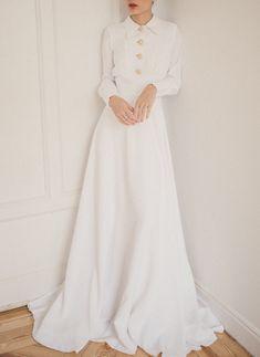 Marvelous Chemise dress - Marvelous Chemise dress Source by - Elegant Wedding, Wedding Bride, Wedding Gowns, Wedding Reception, Casual Braut, Elegant Dresses, Casual Dresses, Wedding Dress Casual, Modest Wedding