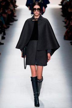 capas otono invierno tendencias moda tips  En capas: La prenda clave de FW14 Look de la pasarela de Valentino otoño-invierno 2014.
