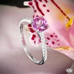 Vatche 18k White Gold Pink Topaz  Diamond Engagement Ring