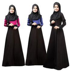 Froomer Women Kaftan Abaya Dress Muslim Islam Jilbab Maxi Dress #hijab #fashion #trending