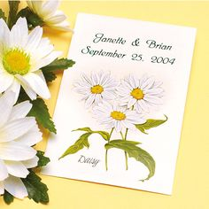 Daisy Seed Wedding Favors, Personalized, Qty 150. $200.00, via Etsy.