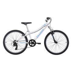 Fluid Rapid 24 inch Mountain Bike Revival White 24 in Mountain Bike Shop, Mountain Biking, Bike Components, Primary Activities, Kids Bike, Saddle Pads, Mtb, Cycling, Bicycle