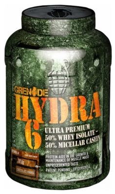 """Grenade HYDRA 6 1.8 KG (4 LB) - Muscle Petrol Hydra 6 has been formulated with the ultimate form of whey protein - Whey Protein Isolate – and the ultimate form of casein – Ultrafiltered Micellar Casein – in the perfect """"50/50″ ratio."""