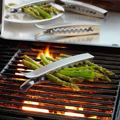 Clips for veggies on the BBQ. Super cool!