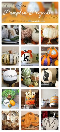 21 Perfect Pumpkin Projects, curated from Hometalk, featured on http://www.funkyjunkinteriors.net/
