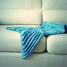 manta de cola de sirena a crochet tutorial paso a paso