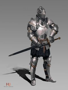 m Fighter Plate Armor Helm Sword urban City Castle undercity Knight Male Warrior Soldier Fantasy Warrior, 3d Fantasy, Dark Fantasy, Medieval Knight, Medieval Armor, Medieval Fantasy, Armadura Medieval, Fantasy Inspiration, Character Inspiration