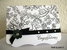 CAS Congratulations Card by FubsyRuth - Cards and Paper Crafts at Splitcoaststampers