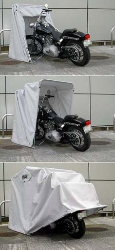 Harley Davidson motorcycle cover. If I didn't have a garage this would be cool.