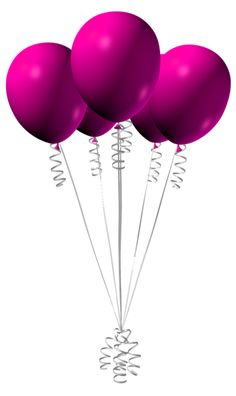 Pink Balloons PNG Clipart Image