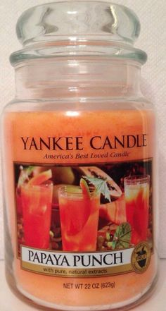 """Papaya Punch - Savor the sunny sweetness of """"the fruit of angels"""" in this refreshing tropical treat. Yankee Candle Scents, Yankee Candles, Best Smelling Candles, Funny Candles, Candle Diffuser, Home Scents, Smell Good, Scented Candles, Tea Lights"""
