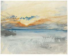 Sunset over Water. Joseph Mallord William Turner.