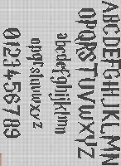 Friendship Bracelet Pattern - Whatever, that's definitely Harry Potter font for cross stitching.Alpha Friendship Bracelet Pattern - Whatever, that's definitely Harry Potter font for cross stitching. Embroidery Alphabet, Embroidery Patterns, Crochet Alphabet, Loom Patterns, Cross Stitching, Cross Stitch Embroidery, Hand Embroidery, Harry Potter Perler Beads, Harry Potter Cross Stitch Pattern