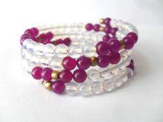 Gemstone Bracelet Boho Bangles Iyana Design by IyanaDesigns