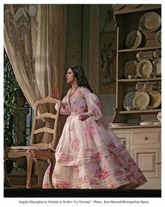 Violetta's Day Dress in La Traviata. Pictured: Angela Gheorghiu