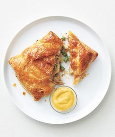 Chicken and Gruyère Turnovers.  Drizzle these with alfredo sauce before sealing - delicious, quick picnic fare!