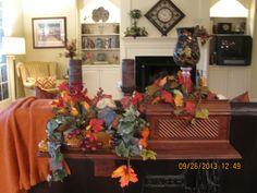 some fall decor in my livingroom C.C. Fall '13