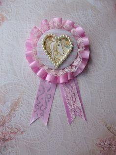 Pink Unicorn Rosette by TruleeDarling on Etsy, $12.50