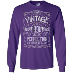 Vintage Aged To Perfection 1996 - 22nd Birthday Gift T-shirt