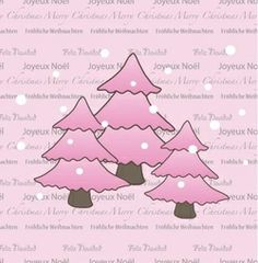 Pink Christmas Tree, Modern, Pink Christmas, Advent Season, Christmas Cards, Printing