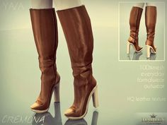 Classic leather boot design for your sim!  Found in TSR Category 'Sims 3 Female Clothing'