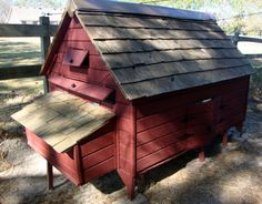 Chicken Coop Plans - New England Cape Style Poultry Duck PDF - House 6 Hens In…