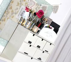 Ikea drawers for storing make up