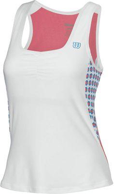 Wilson Women's Passion #Tennis Tank (Wht/ Pnk/ Cyn)