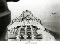 Bow view of Japanese battleship Musashi.