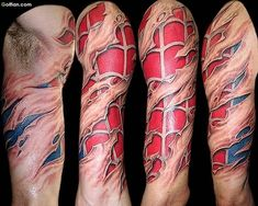 Animated Spiderman 3d Tattoo