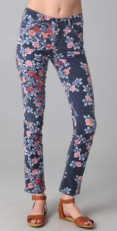 Citizens of Humanity Mandy Floral Roll Up Jeans - StyleSays