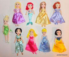 Disney Plush Mini Princess Doll Rapunzel Ariel Jasmine Cinderella Set Lot P72 | eBay