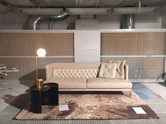 LIPP sofa, Moon low table, design Piero Lissoni for Livingdivani