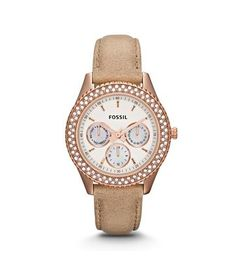 2404d739cb6b Fossil Stella Watch - Women s Watches in Rose Sand