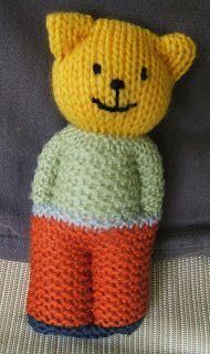Knitting Bear, Teddy Bear Knitting Pattern, Knitted Teddy Bear, Loom Knitting, Knitted Baby, Baby Knits, Knitting Needles, Free Knitting, Knitted Dolls Free