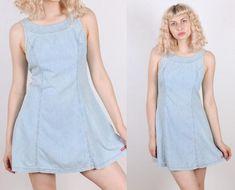 a5ac5a9008e8b 90s Bongo Denim Dress    Vintage Grunge Tank Sleeveless Dress - Medium